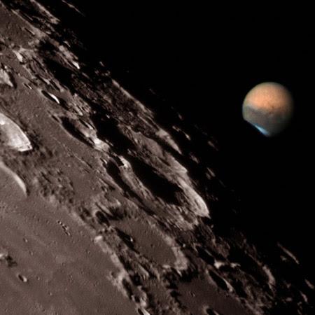 Marte tras la Luna