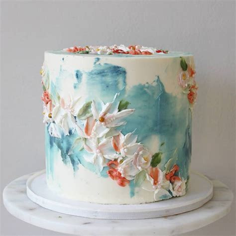 Trend Alert: Spatula Painted Wedding Cakes   OneFabDay.com