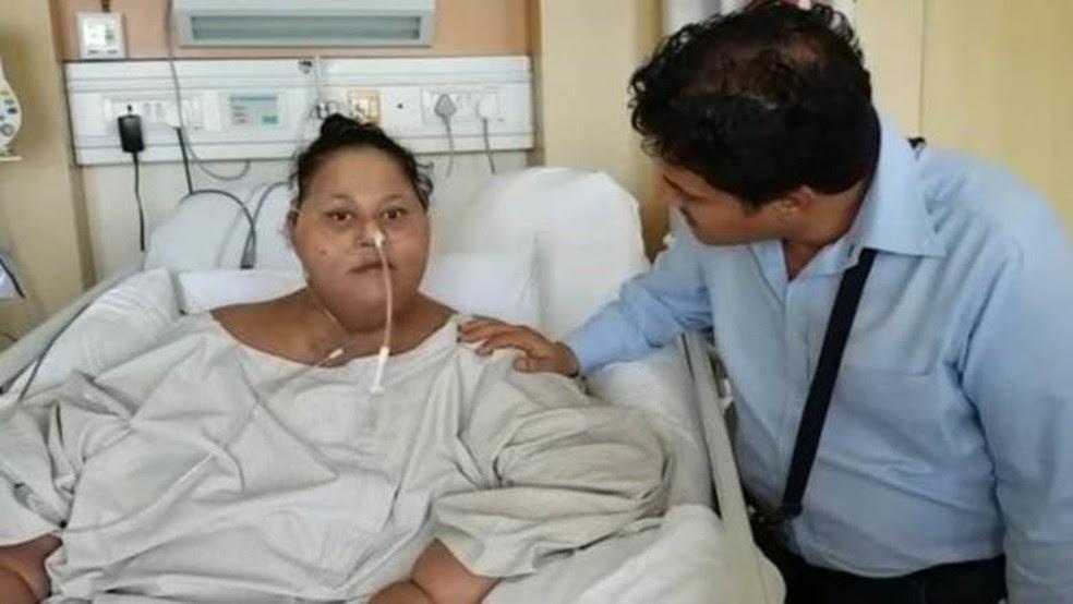 El Aty vai permanecer internada para perder mais peso (Foto: Saifee Hospital )