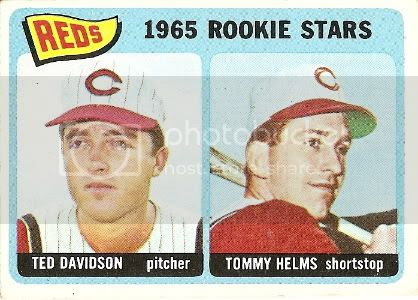 #243 Reds Rookie Stars: Ted Davidson and Tommy Helms