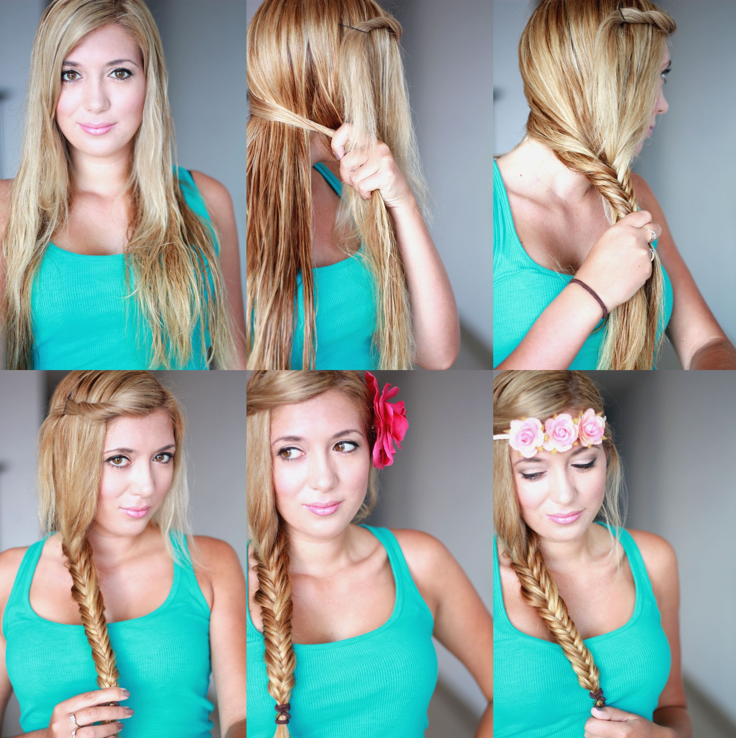 Cute Braided Hairstyle Tutorial for Girls: How to Fishtail Braid ...