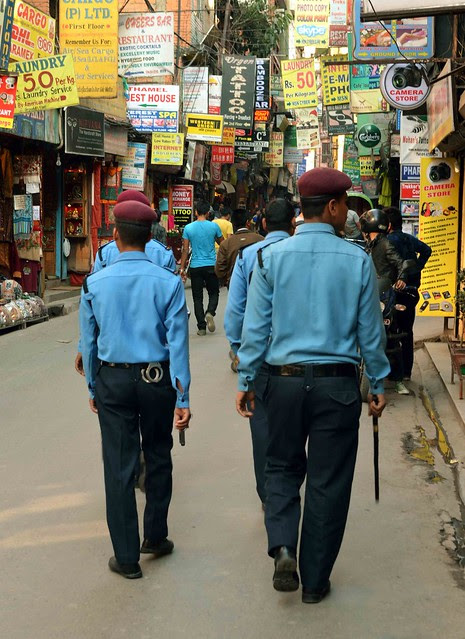 Police in Thamel