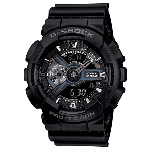 G Shock Settings X-Large Display Black Watch GA110