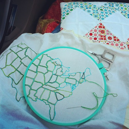 Road Stitching by Jeni Baker