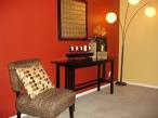 Interior: Red Feature Accent Wall Painting Color Ideas ...