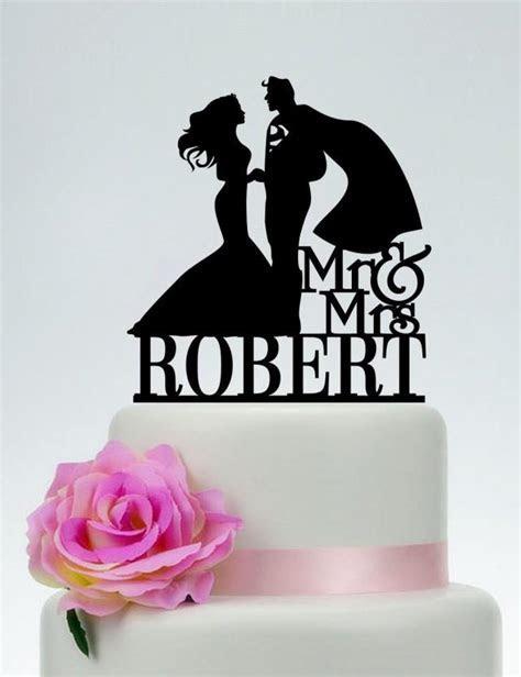 Superman Cake Topper, Wedding Cake Topper,Mr And Mrs Cake