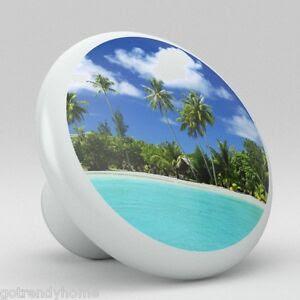 Tropical Beach Ocean Ceramic Knobs Kitchen Drawer Cabinet ...