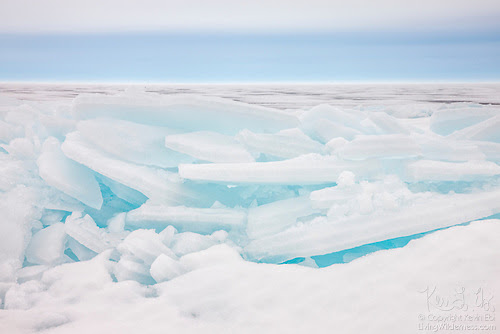 Sheets of Ice on Lake Superior, Michigan