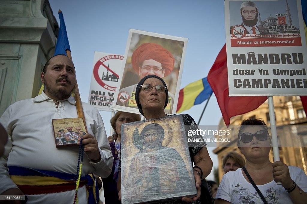 Αποτέλεσμα εικόνας για protests in Bucharest against mosque