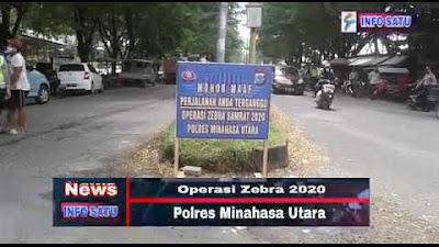 Sat Lantas Polres Minut Lakukan Operasi Zebra 2020