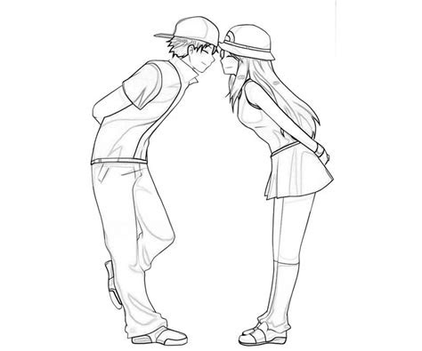 cute anime couples coloring pages cute anime couple