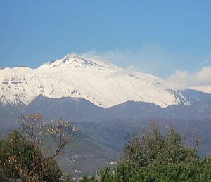 Mount Etna, topped in snow