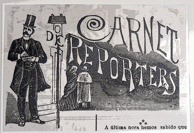 Ilustración sobre un periodista