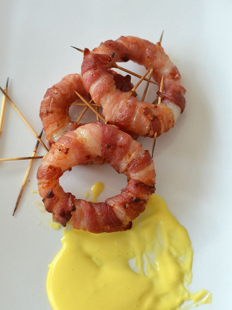 Bacon Onion Rings with Rapeseed Garlic Mayonnaise