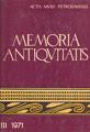 Memoria Antiqvitatis III