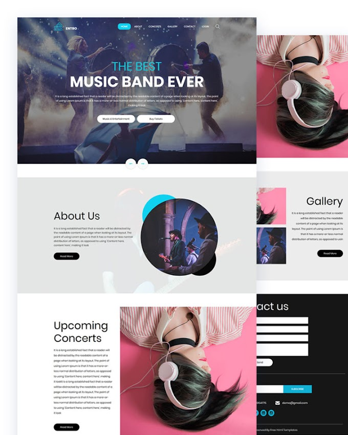 ENTRO – Music Band Html Template