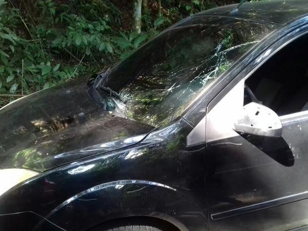 Atleta da Coreia foi atingido por carro na subida da Vista Chinesa (Foto: Polícia Rodoviária Federal/Divulgação)
