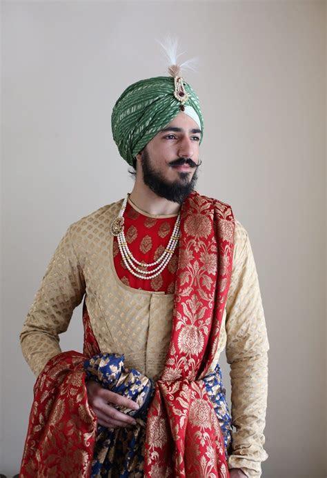 prince punjab king sherwani maharaja menswear menstyle