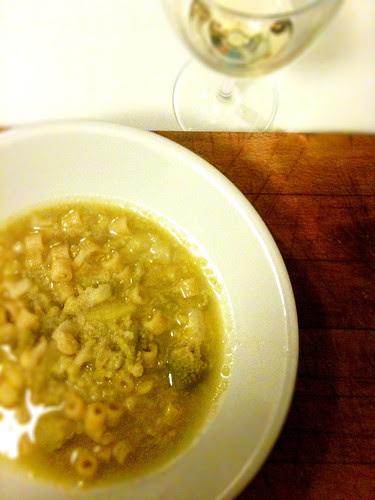 l'aggiustafeste, minestra broccoli e arzilla