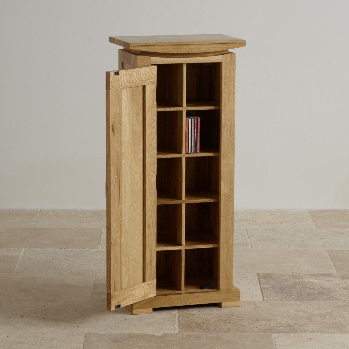 Tokyo Natural Solid Oak CD Storage Unit | Living Room ...