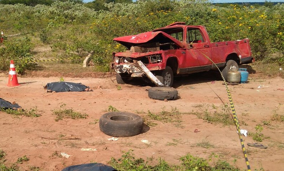 Acidente com 'pau de arara' deixou cinco mortos (Foto: Divulgação/Polícia Civil)