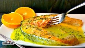 Salmón A La Naranja receta