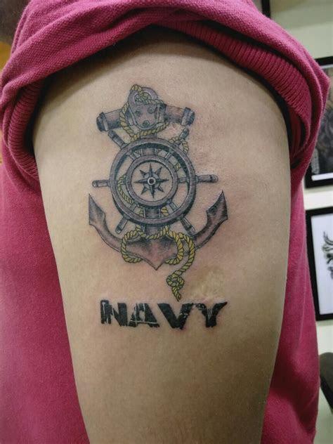 anchor army tattoo hand bigguystattoostudio