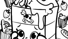 Shopkins Cicibiciler Süt Kedi Ve Köpek Boyama Sayfası