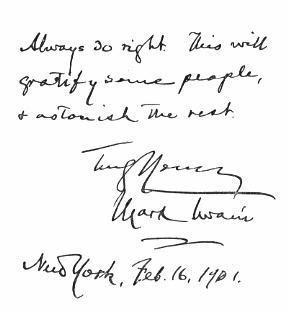 Mark Twain Quotations Right
