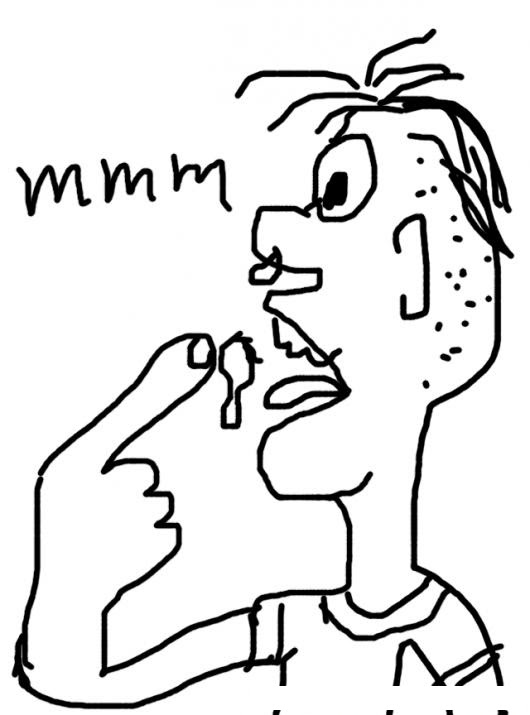 Comer Mocos Dibujo De Muchacho Sucio Comiendo Mocos Para Pintar Y