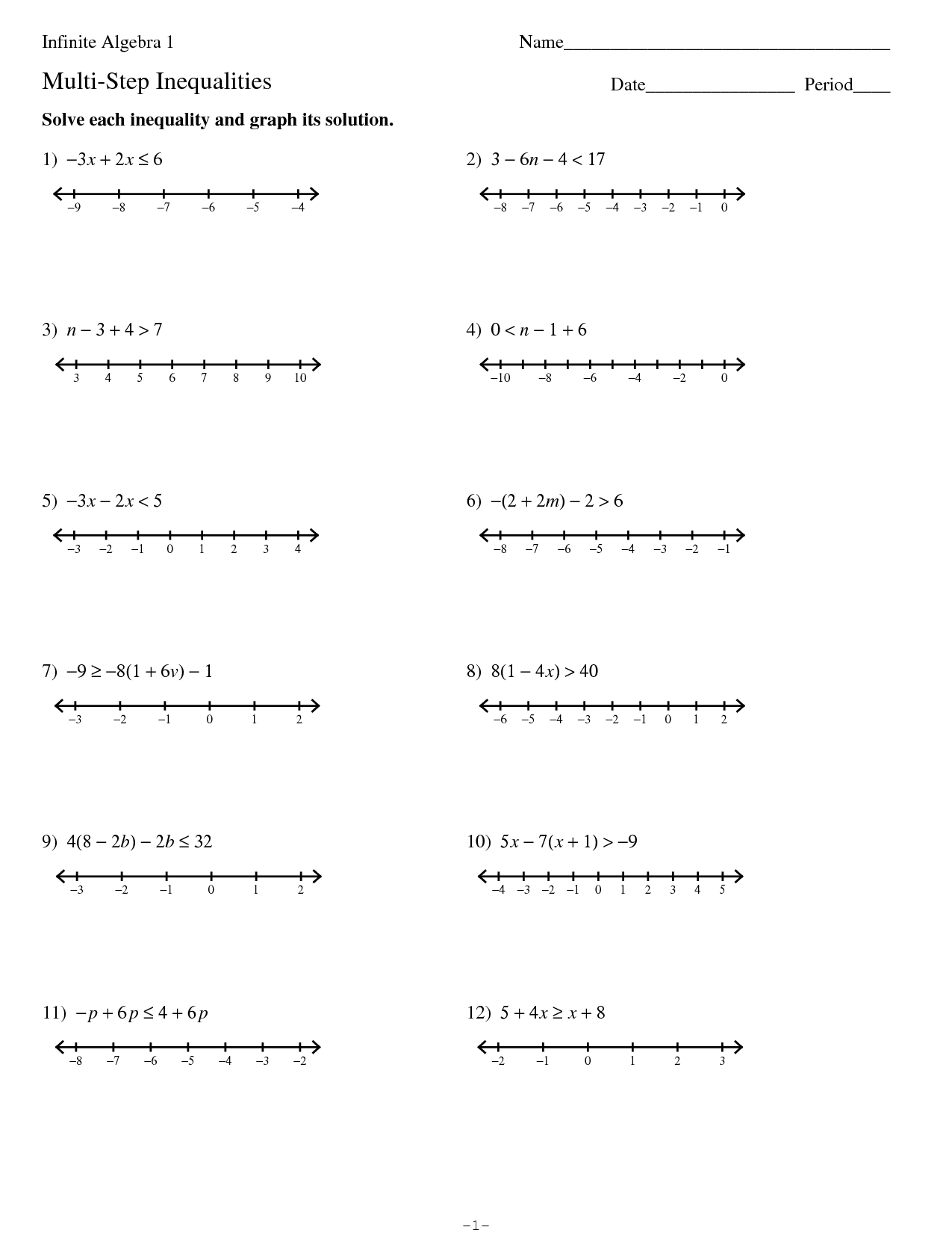 15 Best Images of Kuta Algebra I Worksheets  PreAlgebra Worksheets, TwoStep Equations