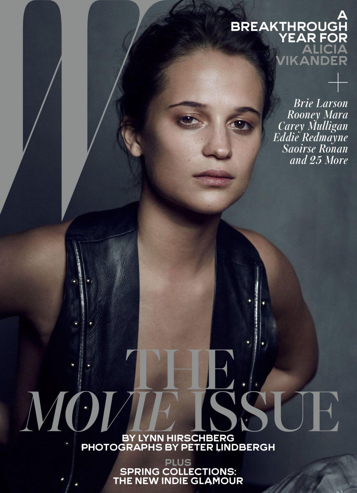 ALICIA VIKANDER in W Magazine, February 2016 Issue
