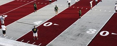 The football field at the University of Lindenwood-Belleville, in Illinois (Photo courtesy thesouthern.com)