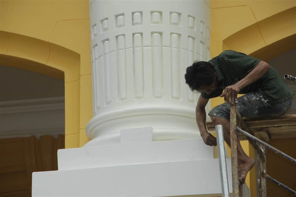 Hình ảnh Tranh cãi xấu - đẹp về màu sơn mới của Nhà hát lớn Hà Nội số 10