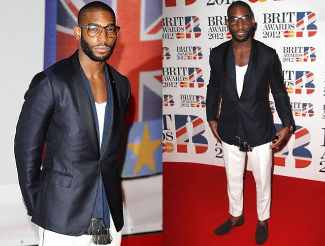 Tinie Tempah Brit Awards 2012 Red Carpet