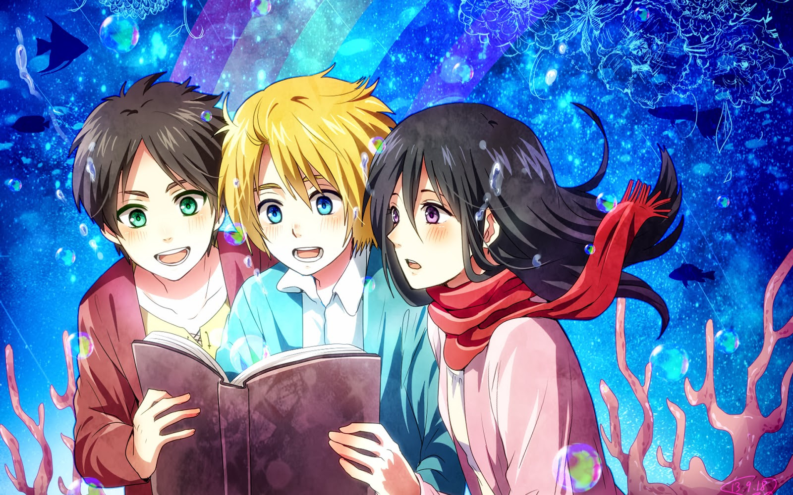 Eren Mikasa And Armin Shingeki No Kyojin Attack On Titan Fan Art 36841548 Fanpop