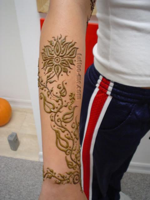 Lotus Henna Tattoo Me