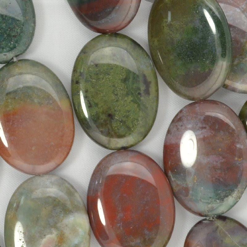s44188 Stone Beads - 30 x 40 mm Oval - Fancy Jasper (1)