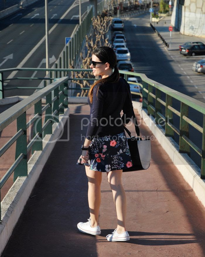 Floral Skirt Converse StreetStyle