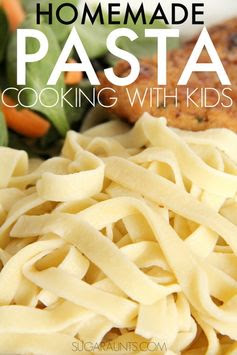 Homemade Pasta recipe. Make this dough recipe at home and have homemade noodles for dinner! Kids can help make them, so fun! Part of the Cooking With Kids a-z series.