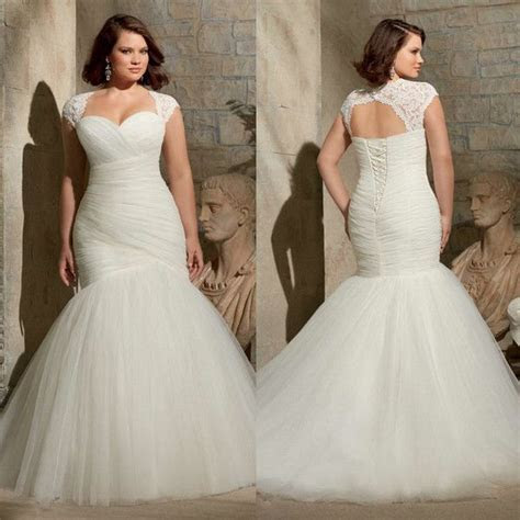 2017 Plus Size Mermaid Wedding Dresses For Curvy Brides