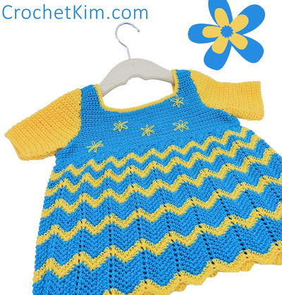 Lazy Daisy Crochet Baby Top