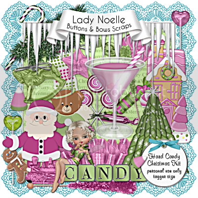 Lady Noelle - Kit Hard Candy Christmas, Lady Noelle - Kit Hard Candy Christmas (400 x 400)