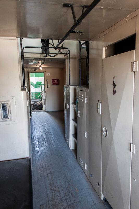 Interior of caboose BN 12580