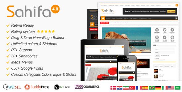 Sahifa - Responsive WordPress News,Magazine,Blog - News / Editorial Blog / Magazine