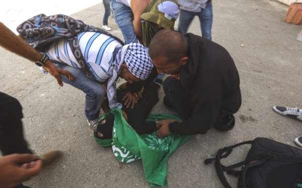 Photo of Salameh a few moments later. Still no blood.
