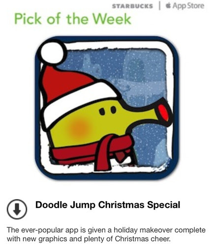 Starbucks Pick of the Week - Doodle Jump Christmas Special