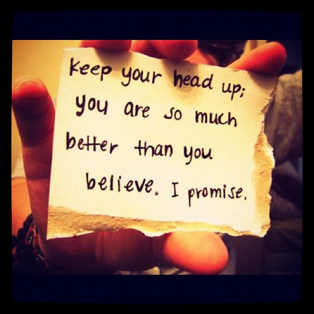 Keep Your Head Up Quote For Girls Quote Number 602145 Picture Quotes