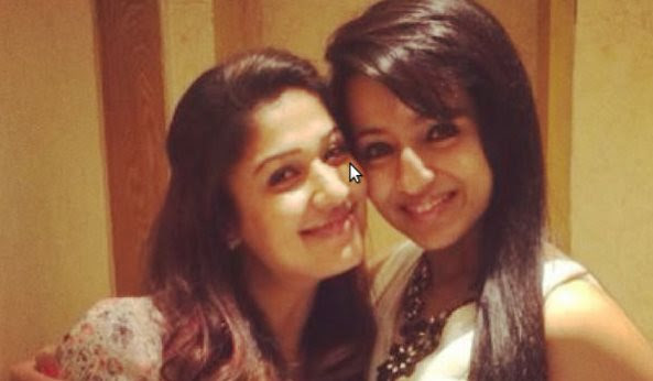 Trisha promoting 'Naanum Rowdy Dhaan' for her friend Nayanthara