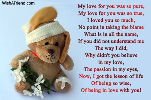 Sad Love Poems For Him